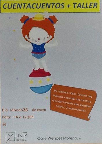 Cuentacuentos y taller infantil en la librería Yuste de Salamanca