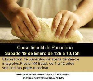 Curso infantil de panadería en Brownie & Home