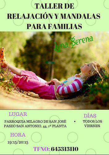 Taller de relajación y mandalas para familias en Salamanca