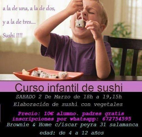 Curso infantil de sushi