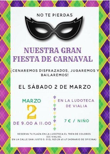 Gran Fiesta de carnaval en Vialia