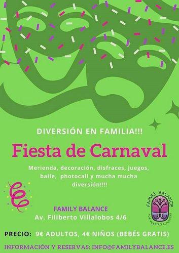 Fiesta familiar de carnaval en Family Balance