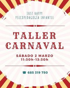 Taller de carnaval en Just Happy