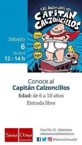 El Capitán Calzoncillos visita la librería Santos Ochoa
