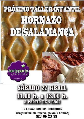 Taller infantil de hornazo de Salamanca en Tarty Party
