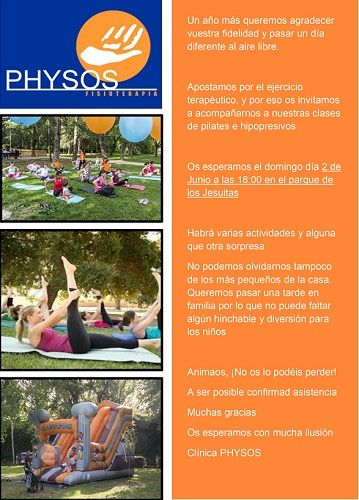 Ejercicio saludable al aire libre en el Parque de Jesuitas