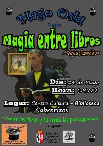 Magia familair entre cuentos con el Mago Oski en la Biblioteca de Cabrerizos