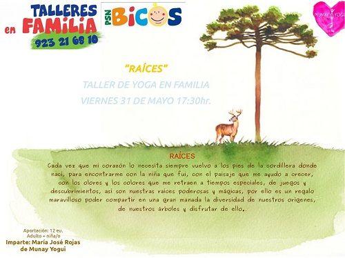Taller de yoga en familia en Bicos con Munay Yogui