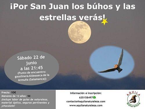 Por San Juan los búhos y las estrellas verás con Aquila