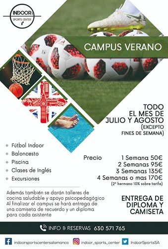 Campus de Verano en Indoor Sports Center