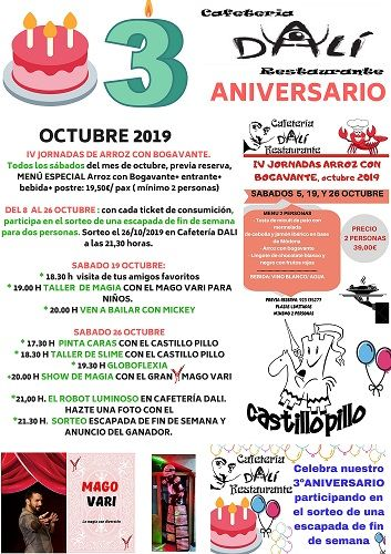 Fiesta aniversario en la cafetería Dalí de E. Leclerc