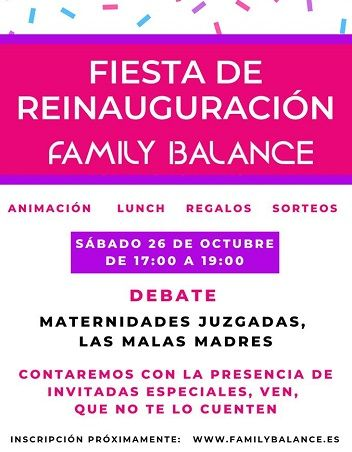 Fiesta de reinauguración de Family Balance