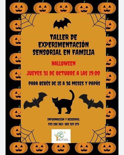 Taller de experimientación sensorial en familia especial Halloween