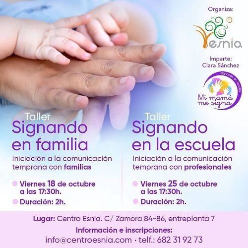 Taller Signando en familia en Centro Esnia
