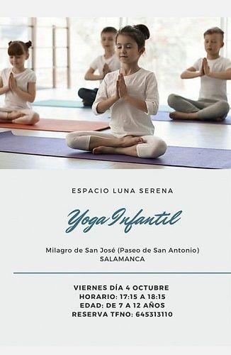 Vuelve el yoga infantil en Luna Serena