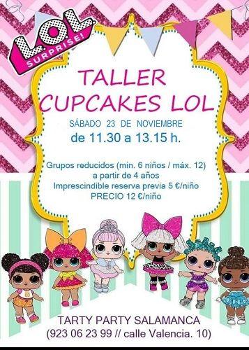 Taller de cupcakes LOL en Tarty Party