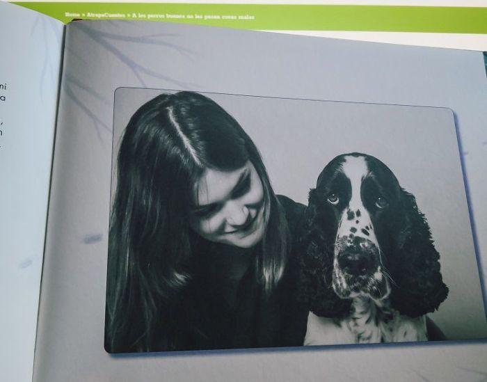 Elvira y su perro Tango