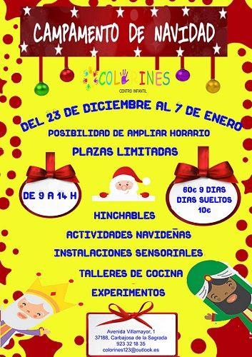 Campamento de Navidad en el Centro Infantil Colorines