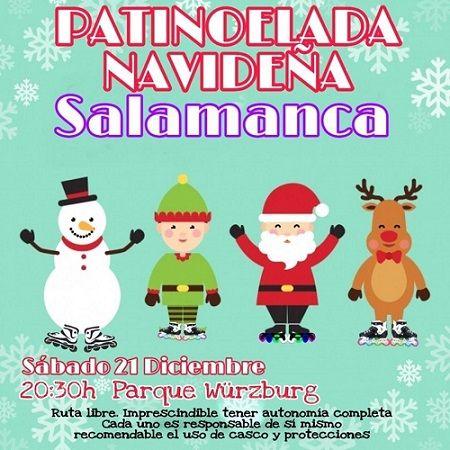 Patinoelada navideña con el C.D. Patinar en Salamanca