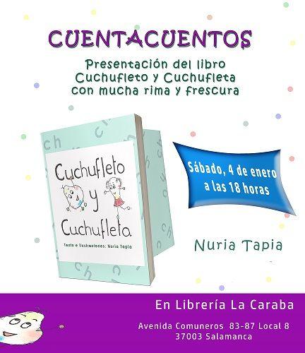 Presentación y cuentacuentos en la librería La Caraba