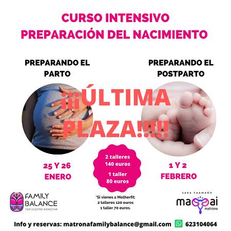 Curso intensivo preparación al nacimiento en Family Balance