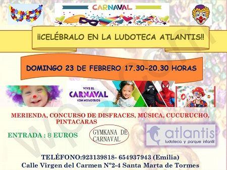 Fiesta de Carnaval en la ludoteca Atlantis