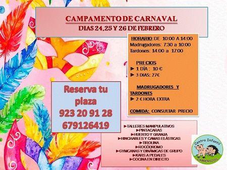 Campamento de Carnval en el Centro Infantil Cabrerizos