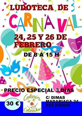 Ludoteca de Carnaval en el Centro Infantil Colorín Colorado