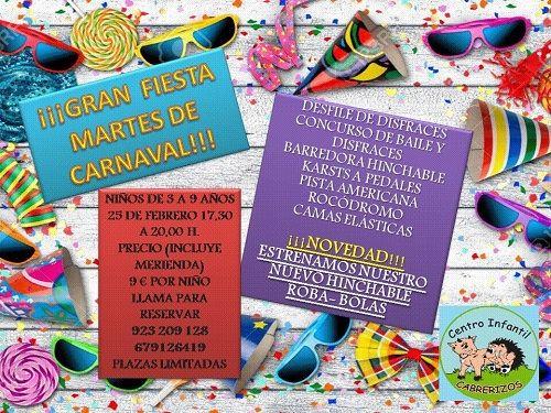 Gran fiesta de Carnaval en el Centro Infantil Cabrerizos