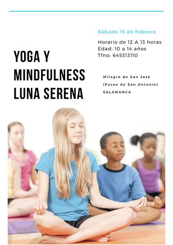 Yoga y mindfulness Luna Serena para preadolescentes