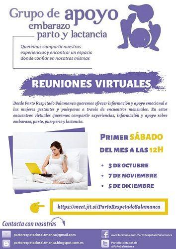 Sesiones vituales de Parto Respetado Salamanca