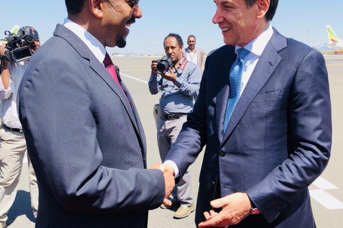 Ra'iisul wasaaraha Talyaaniga oo gaaray magaalada Addis Ababa