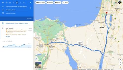 Mose Auszug aus Ägypten Reiseroute
