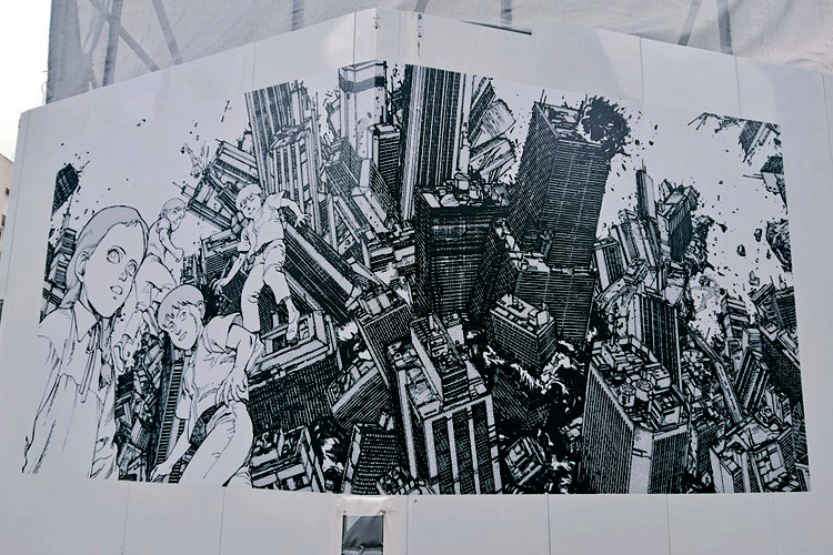 Neo-Tokyo Is About To Explode - Akira Murals In Shibuya