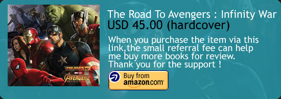The Road to Marvel's Avengers: Infinity War - The Art of the Marvel Cinematic Universe Art Book Amazon Buy Link