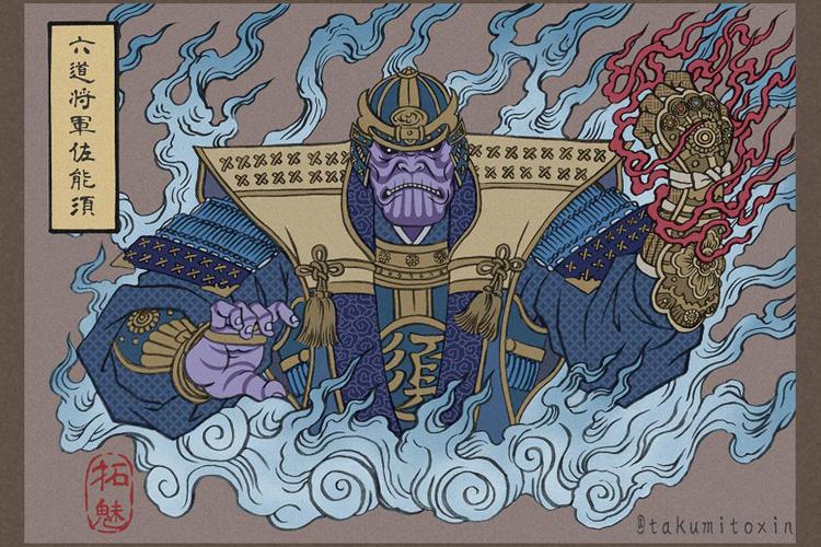 Avengers Endgame Ukiyo E Style Halcyon Realms Art Book