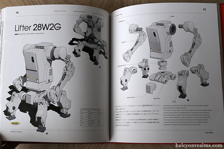 Mecha archives halcyon realms art book reviews anime manga industrial divinities 2017 art book review malvernweather Image collections