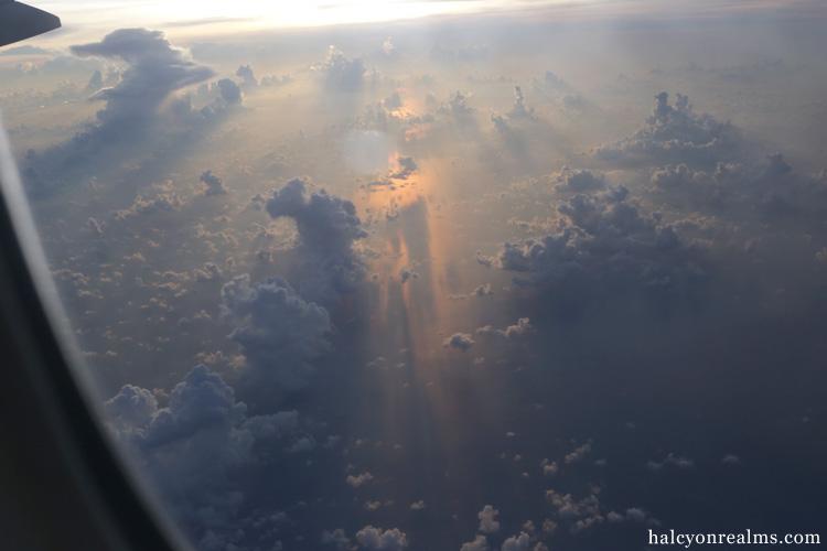 Cloudscape, Sunrise, Singapore To Tokyo.