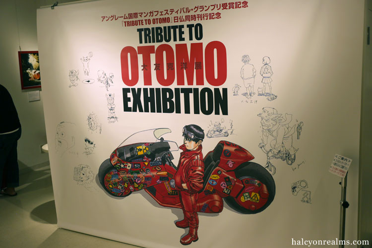 Visiting The Tribute To Otomo Exhibition, Tokyo.