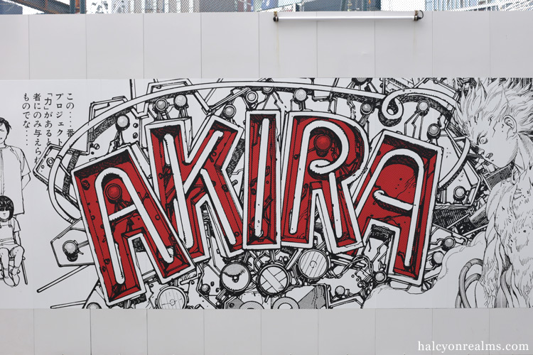 Akira Murals at Shibuya Parco, Tokyo June 2018.