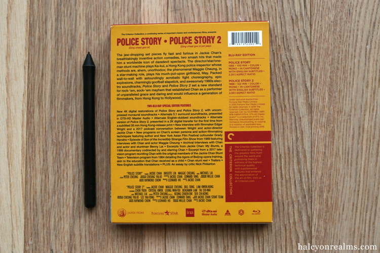 Police Story/Police Story 2 - The Criterion Collection Blu-ray