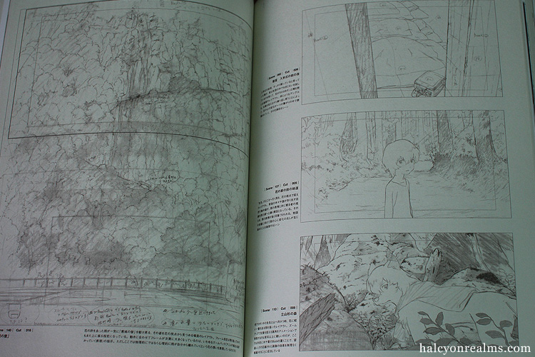 Wolf Children Art Book Part II : Layout And CG