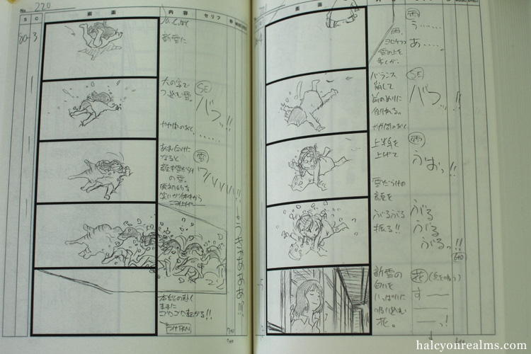 Wolf Children Storyboard Book Review - Halcyon Realms - Art Book ...