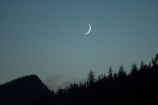 moon rising over Haida Gwaii