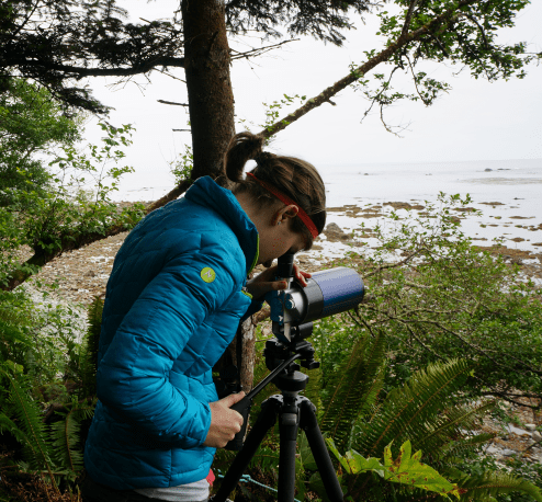 Counting sea otters for annual sea otter survey (2013). Yellow Banks (WA).
