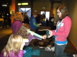Playing the sea otter counting game at Discover Science Weekend!