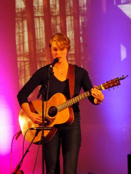 New Writing Cumbria and Eden Arts event at Penrith Old Fire Station, featuring writer Simon Sylvester and singer songwriter Joan Shelley