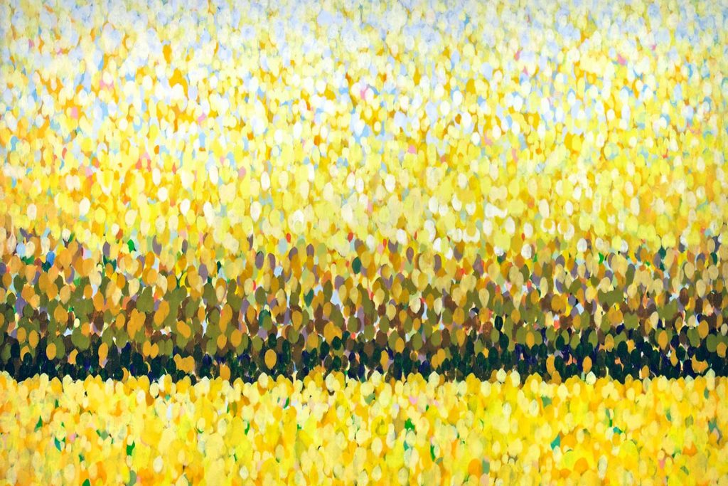 abstract yellow painting