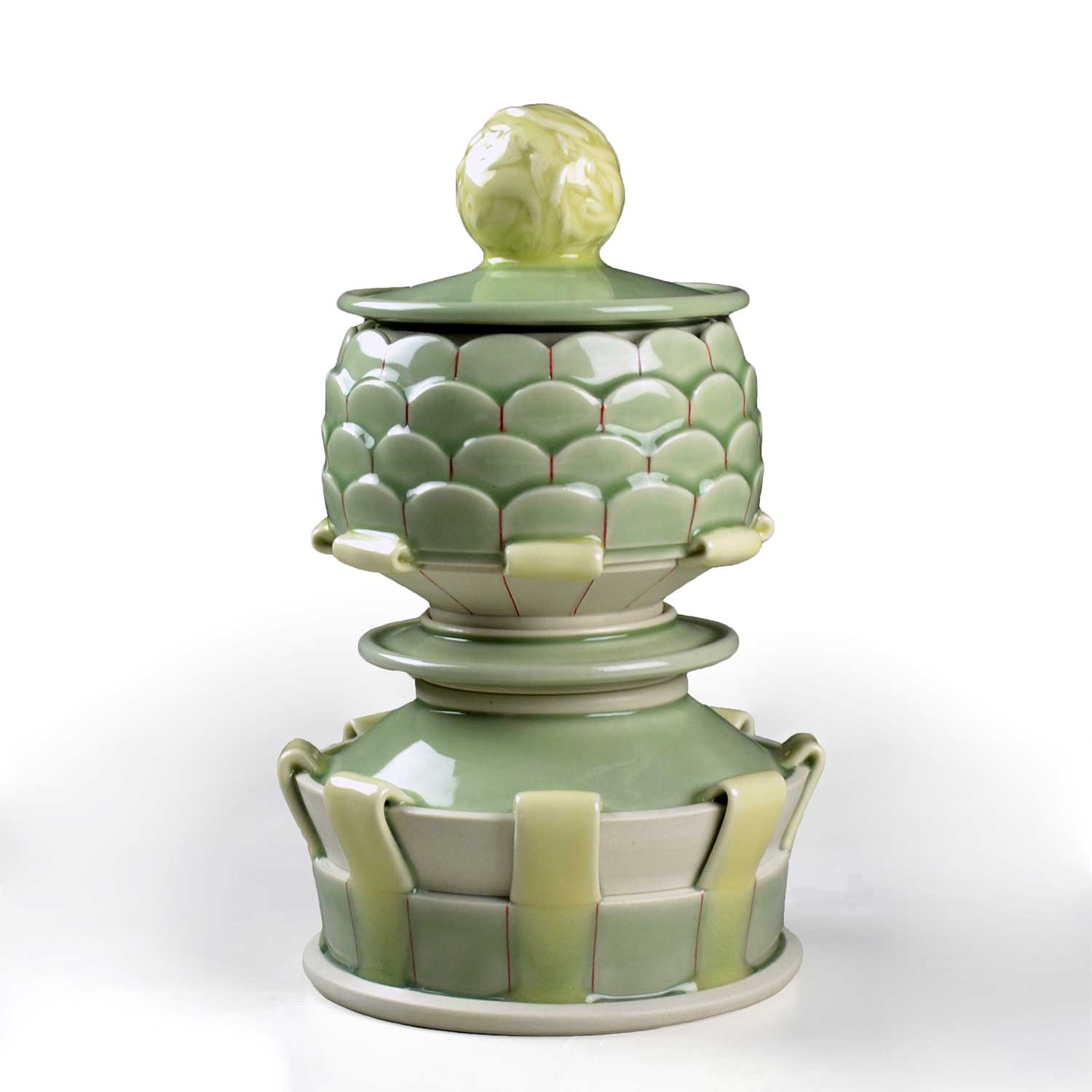 Shawn Spangler ceramic pot titled The Song Dynasty