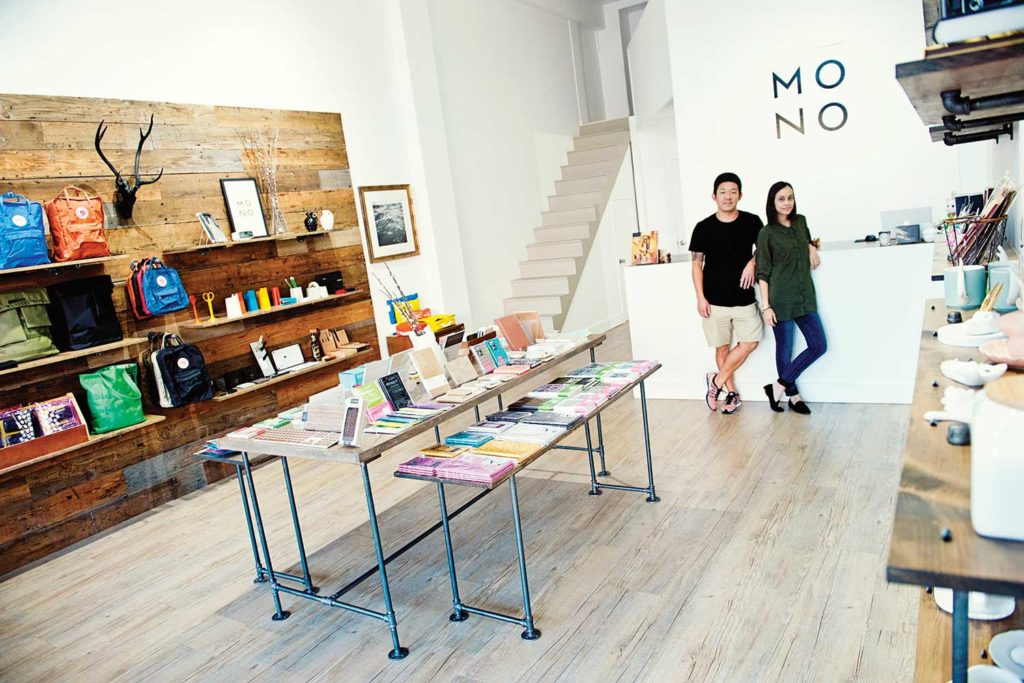 Dean and Cassy Song inside the Mono store